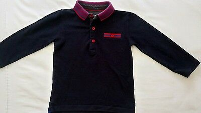 Boys 12-18 months, next long sleeve polo top