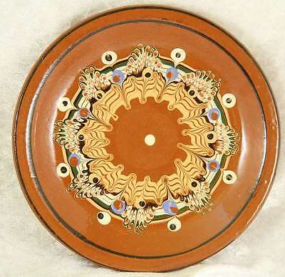 Overseas studio pottery small plate 6 inches across no makers mark cake time