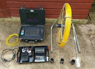 CCTV Drain Camera - 80m Digital Push Rod System - Colour Self Levelling Camera