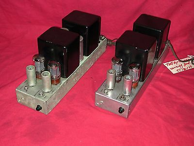 Fisher 70AZ 6L6 / 5881 12AU7 5V4 Tube Amplifiers [Pair]