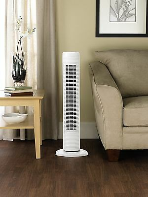 Portable-Air-Conditioner-Office-Cooling-Tower Fan-Unit-Wide-Area-31-Inch White