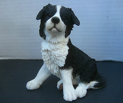 """Country Artists Border Collie Dog Puppy Figurine 4"""" Tall Perfect Condition"""