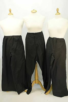 3 x Pairs of Black Cotton Chinese Style Trousers