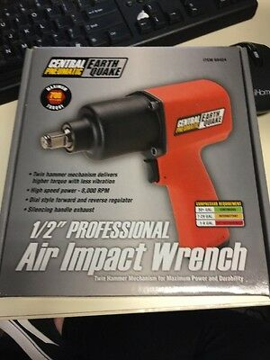 """Central Pneumatic Earth Quake 1/2"""" Professional Air Impact Wrench - Item# 68424"""
