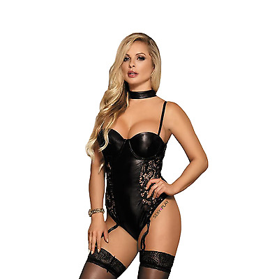 Plus Size Wetlook Babydoll LINGERIE with Suspenders 8 10 12 14 16 18 20 22  A77