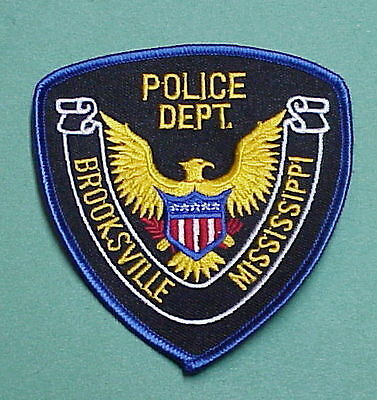 Brooksville  Mississippi  Ms  Police Patch   Free Shipping!!!