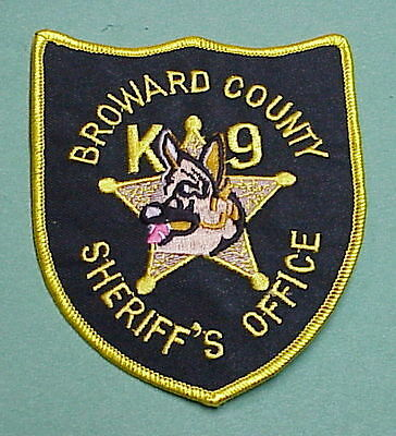 Broward County  Florida  K-9  Sheriff/  Police Patch  Free Shipping!!!