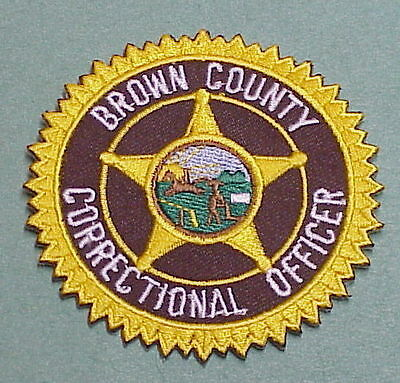 Brown County  Indiana  Correctional Officer   Police Patch   Free Shipping!!!