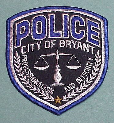 Bryant  Arkansas  Ar  Police Patch  Very Nice!!  Free Shipping!!!