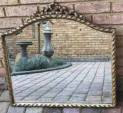 Beautiful Large Decorative Antique Gilded Wood French Style Mirror