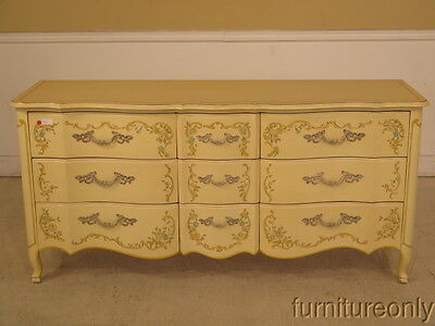 F28010: HERITAGE Venetian Style Paint Decorated Triple Dresser