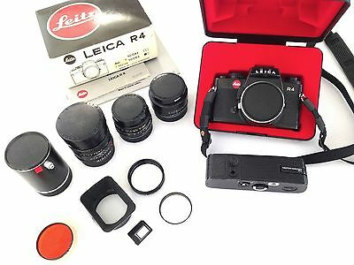 LEICA R4 + Motor + 28mm + 50mm + 90mm + accessories