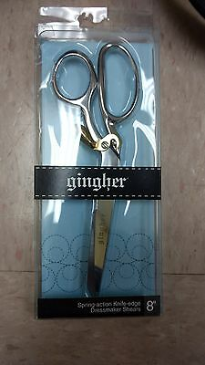 "Gingher® 8"" Spring-Action Knife-Edge Dressmaker Shears"