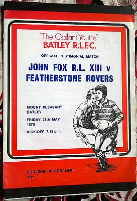 Gallant Youths Batley Rugby League John Fox RL XIII v Featherstone Rovers 1979