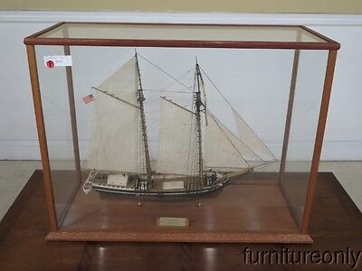 F28779: Eagle Bath 1847 Tall Ship Sailboat Model w. Case