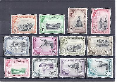 SWAZILAND...# 55-66 ( Complete Set of 12 )...1956...Mint  HH, HR...SCV  $110.10