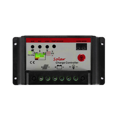 30A 12V/24V PWM Solar Panel Charge Controller Battery Regulator Boat Home LD1020