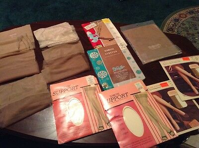 Vintage Lot of 12 pr nylon stockings size 10 1/2  11 1/2 tall 11 seamless 1 seam