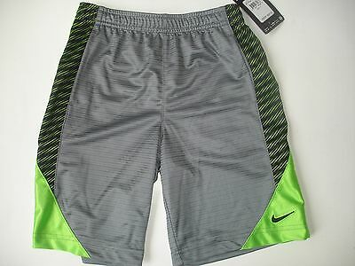 NWT Boy 7 - Nike shorts - Gray Green and Black - Embroidered logo
