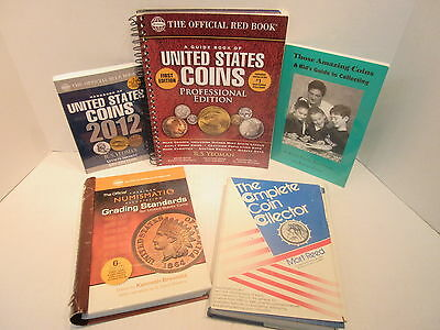 5 Coin Books 2012 Blue Book Red Book Professional 1st Ed. Ana Guide Kids Guide