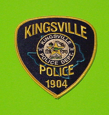 Kingsville  Texas  1904  Tx   Police Patch   Free Shipping!!!