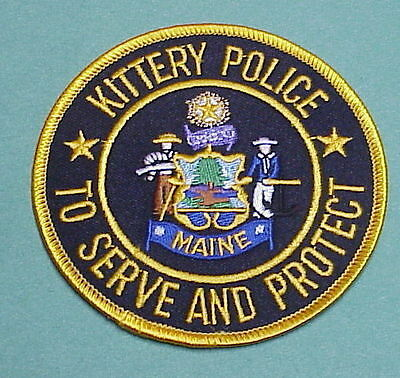 "Kittery  Maine  Me  "" To Serve And Protect ""   Police  Patch  Free Shipping!!!"