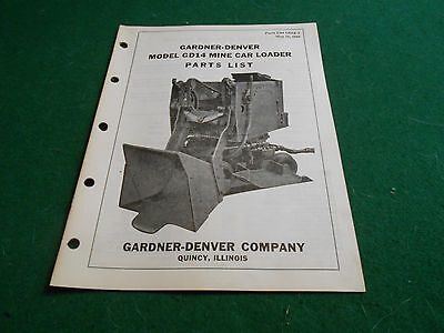 Gardner-Denver MINE CAR LOADER Model GD14 PARTS LIST