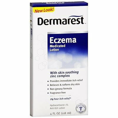 Dermarest Medicated Lotion, Eczema, Anti-itch Lotion With Skin Soothing 4 oz.