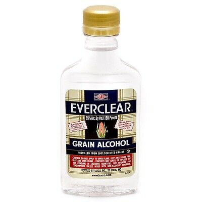 Everclear 200ml 95% Alcohol Herbal Extraction Solvent Tinctures RSO Isopropanol