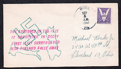 **US WWII Patriotic Cover, Home, PA 9/5/1944 Hand Drawn Cachet