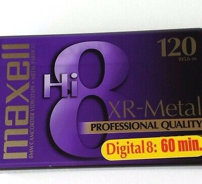 Maxell P6-120 XR-Metal 8mm Metal Particle Camcorder Videotape Hi8 - NEW sealed