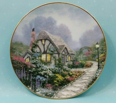 "Thomas Kinkade ""Chandler's Cottage"" collector plate by Knowles, 1991, 8 1/2"""