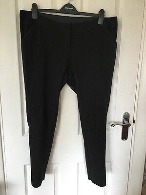 Mamas And Papas Size 12 Slim Fit Maternity Black Work Trousers