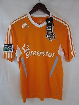 NWT Adidas MLS Adidas Clima-Cool Houston Dynamo Soccer Jersey Men s Small 844adf252