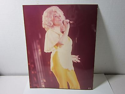 Rare Original Unseen 1970's Old Kodak Concert Photo Dolly Parton Estate Find