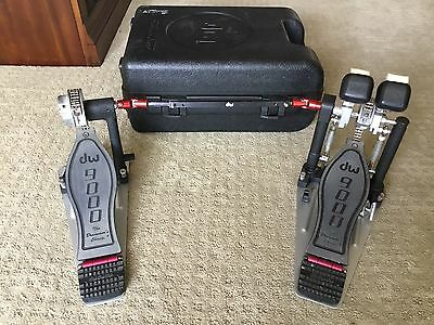Dw 9000 Double Bass Pedals With Case - Great Pedals!!!