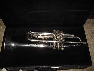 BLESSING XL Silver Finish TRUMPET & Case USA