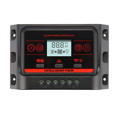 PWM Solar Battery Regulator Charge Controller Dual USB 10A 12V/24V Auto LD1015
