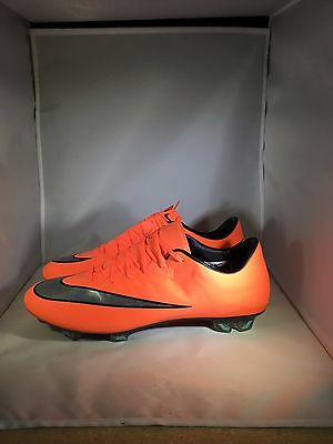 New Nike Men's ACC Mercurial Vapor X FG Soccer Cleats Mango 648553 804 Size 10