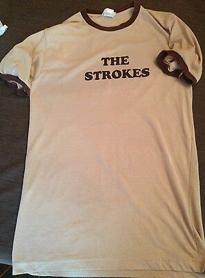 Original The Strokes Tan/Brown Ringer T-Shirt By Blue Grape USA XL