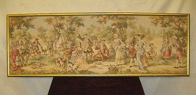 Beautiful Large 6 Ft Antique French Tapestry Framed Classical Wall Art Excellent