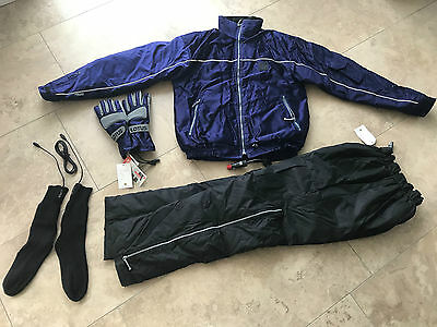 RARE! Original Lotus heated jacket, pants, gloves and socks by Gerbing / NEW!