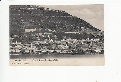 South from the New Mole Gibraltar Vintage Postcard