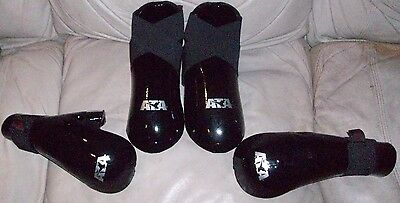 NEW! ATA Taekwondo Karate Martial Arts Black ProtectiveGear Shoes Gloves Medium