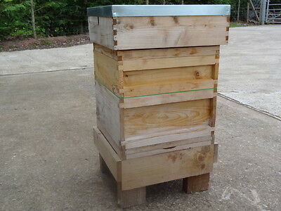 National Bee Hive, Complete Cedar Assembled with stand ready for bees