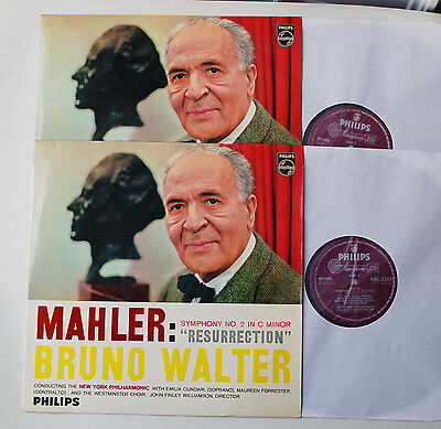 MAHLER Symphony No.2 'Resurrection' BRUNO WALTER Philips ED1 MONO 2LP ABL 3245/6