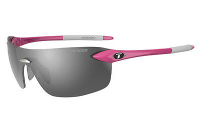 Tifosi Vogel 2.0 Sunglasses, Sports Eyewear, Smoke Lenses, Neon Pink Frame