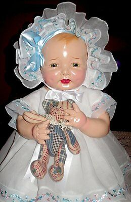 "HUGE 26"" VINTAGE 1920s  EFFANBEE BUBBLES COMPOSITION DOLL"
