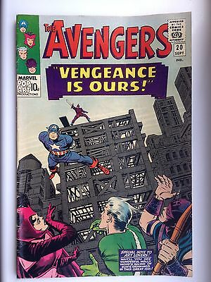 Marvel silver age comics The avengers 1965 no 20