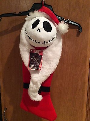 Nightmare Before Christmas JACK in Red Santa Suit and Hat Christmas Stocking NWT